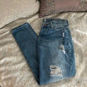 7 For All Mankind Skinny Boyfriend Jeans Size 25